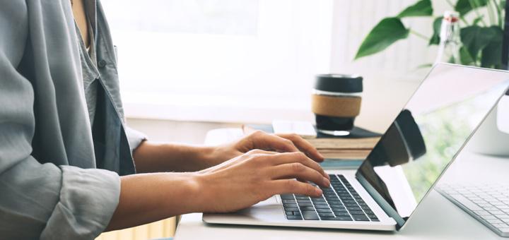 laptop write